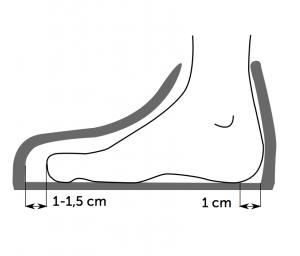 noha a boty z boku